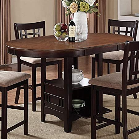Amazon Com Homelegance Crown Point 60 Counter Height Butterfly Leaf Table Merlot Furniture Decor