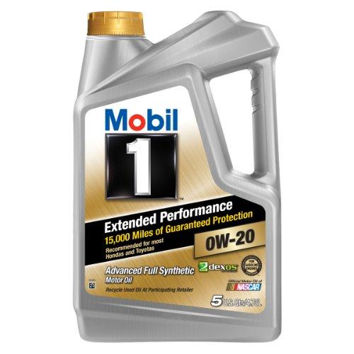Mobil 1 (120903-3PK Extended Performance 0W-20 Motor Oil - 5 Quart, (Pack of 3)