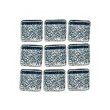 MosaixPro Piastrelle di Vetro Glitter 10 x 10 x 4 mm 200 g ~ 215 pz. Argento