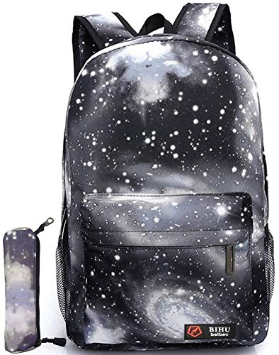 Unisex Galaxy School Backpack, GIM School Bag Canvas Backpack Laptop Book Bag Galaxy Leisure School Rucksack Satchel Hiking Bag
