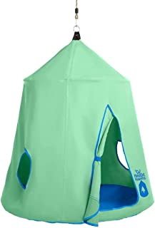 HearthSong Go! Hugglepod Hangout Portable Hanging Tree Tent - Mint Green