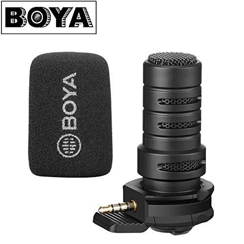 BOYA BY-A7H - Micrófono direccional TRRS para Smartphone, iPhone iOS, Android para grabación de teléfono Celular