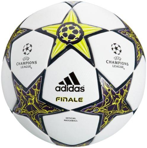 adidas Fussball Final 12 OMB Champions League, white/lab lime f12/dark violet f12, 5, W43107,