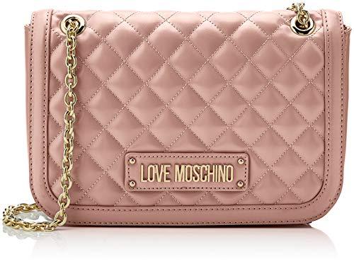 Love Moschino Damen Quilted Nappa Pu Umhängetasche, Pink (Rosa), 15x10x15 centimeters