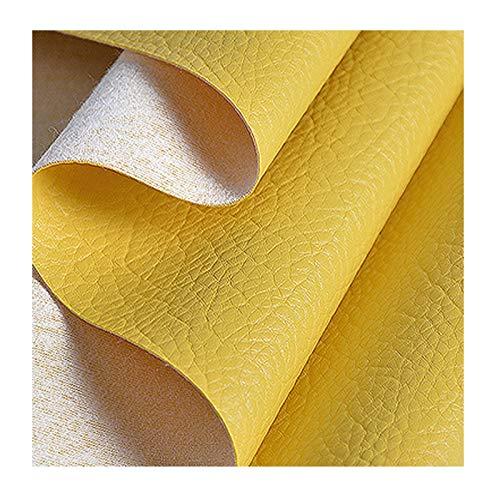 ZHIHEHE Tela PU Polipiel Tela Sintética con Patrón Litchi para para Reparación De Sofás Costura Elaboración Proyectos De Bricolaje Venta por Metros-Rosa Claro 100×138cm