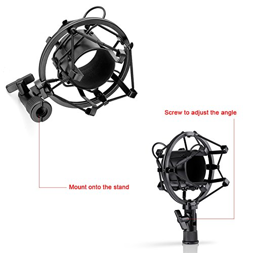 Neewer Nw-700 Condenser Microphone & Nw-35 Arm Stand With XLR Cable And Mounting Clamp & Nw-3 Pop Filter & 48V Phantom Power Supply With Adapter Kit