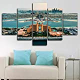 CXVXC5 Piezas - Cuadro sobre Lienzo Atlantis Dubai Emirates HotelSo Crazy Art de Estilo Moderno Ideal - para Decoración hogareña - Listo para Colgar