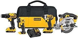 DEWALT 20V MAX Combo Kit, Compact 4-Tool (DCK421D2)