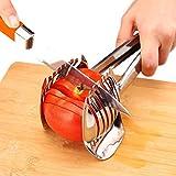 Beste Utensilien Tomatenschneider Zitronenschneider 18/8 Edelstahl Mehrzweck Runde Fruchtzangen Zwiebelhalter Einfache Scheiben Kiwi Früchte & Gemüse Werkzeuge Küche Schneidhilfsmittel