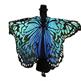 OVERDOSE 197 * 125CM Frauen Weiche Gewebe Schmetterlings Flügel Schal feenhafte Damen Nymphe Pixie...