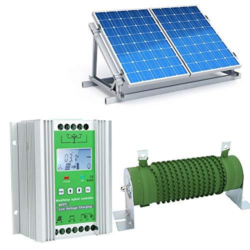 Nannday Wind Solar Hybrid Laderegler, Boost-Typ MPPT LCD-Display Wind Solar Hybrid Controller mit Entladewiderstand(1-JW1230)