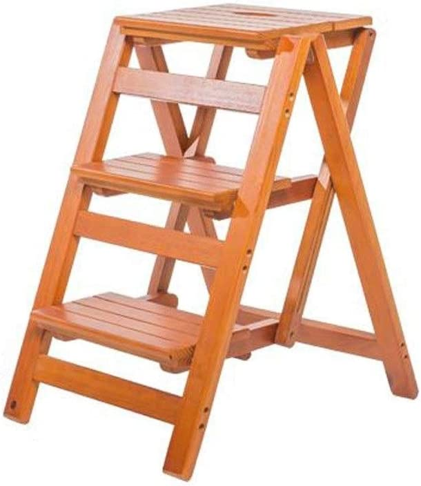ZCL Step New item Stool Folding Ladder Household Award-winning store Wooden Multifunc