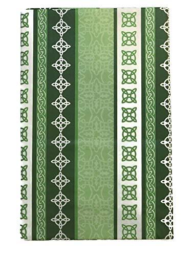 Mainstream St. Patrick's Day Irish Celtic Knot Pattern Vinyl Flannel Back Tablecloth (Size 60' Round)