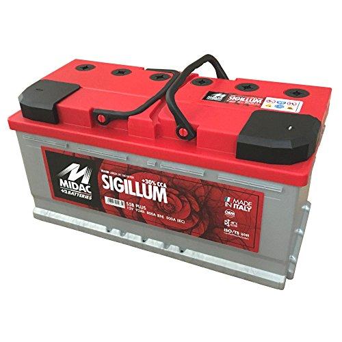 MIDAC SIGILLUM Starterbatterie S5B Plus 12V 90 AH Doppeldeckel EINZELZELLEN-Labyrinth Batterie