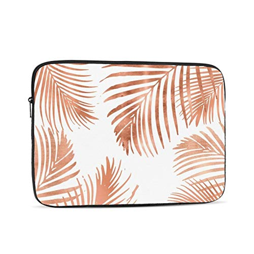 Rose Gold Palm Leaves 13 Inch Laptop Sleeve Bag Compatible with 13.3' Old MacBook Air (A1466 A1369) Notebook Computer Protective Case Cover