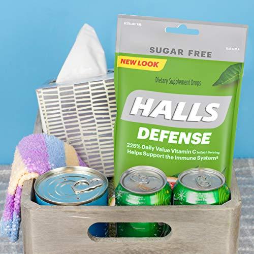 HALLS Defense Assorted Citrus Sugar Free Vitamin C Drops, 25 Drops