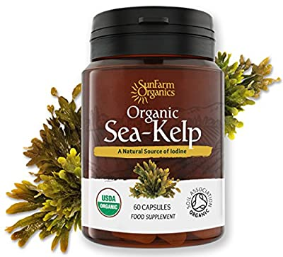 Certified Organic Iodine from 500mg Kelp Giving 385mcg Iodine per capsule 256% RDA Contributes to Normal Thyroid Function by Vitalize Foods Ltd