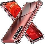 ivoler Klar Silikon Hülle für Realme X50 Pro 5G mit Stoßfest Schutzecken, Ultra Dünne Weiche Transparent Schutzhülle Flexible TPU Durchsichtige Handyhülle Kratzfest Hülle Cover