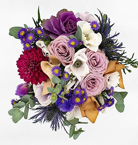 Bouquet de fleurs fraîches camaïeu de parme