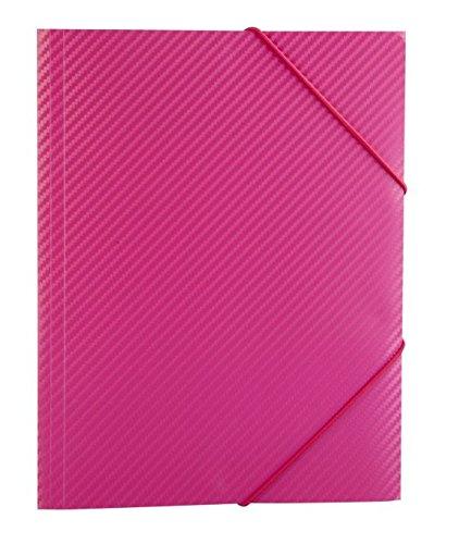 Mica College Sammelmappe/ Eckspanner DIN A3 - Carbon Design - Pink