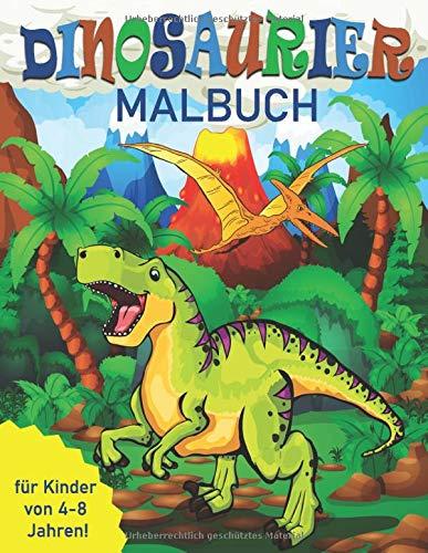 Dinosaurier-Malbuch für Kinder von 4-8 Jahren