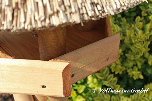 REETDACH VOGELVILLA STETIN (klein) Kiefer Vogelhaus Futterhaus OHNE Ständer 65x57x57 - 3