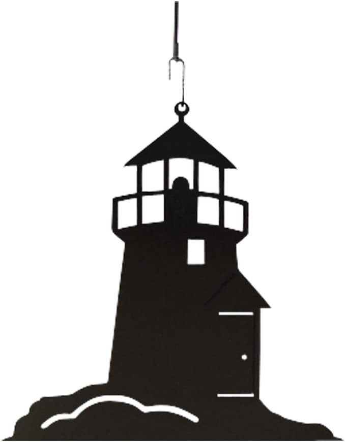 Department store Village Wrought Iron HOS-10 Credence Lighthouse Decoration Silhouette