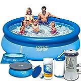 Intex 28122 - Set de piscina 7 en 1 (305 x 76 cm) con bomba de filtro y accesorios