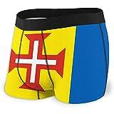Web--ster Calzoncillos bóxer para Hombre Bandera de Madeira Ropa Interior cómoda para Hombres