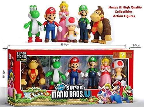 Sajani 6 in 1 Kids Super Action Figures Toy Set - Multi Color (Red)