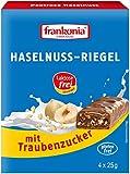 frankonia CHOCOLAT Haselnuss Riegel mit Traubenzucker laktosefrei & glutenfrei 4x25g, 100 g, 33280