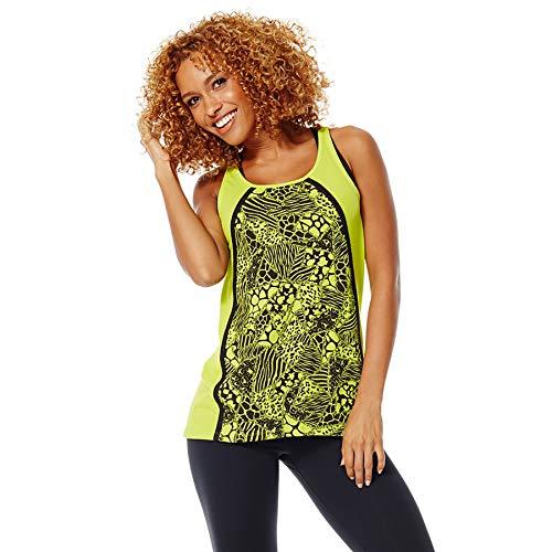 Zumba Dance Atlético Estampado Fitness Camiseta Mujer Sueltas de Entrenamiento Top Deportivo, Z Green, X-Small