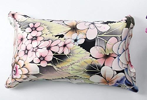 HNLHLY kussensloop van zijde, eendelig, eenzijdig of tweezijdig, bedrukt, meerkleurig, 74 × 48 cm