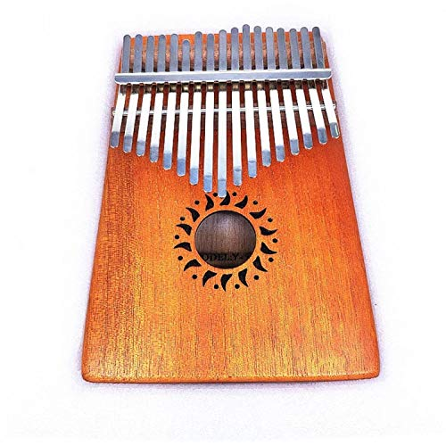 SYXMSM Daumenklavier Kalimba Finger Klavier Daumenklavier 17 Ton Karte Lymphatische Finger Klavier Finger Übenden (Color : Black)