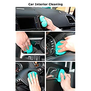 Keyboard Cleaning Gel Car Cleaning Gel Car Cleaner Gel Detailing Putty Dust Cleaning Tool for PC Tablet Laptop,Car Vents…