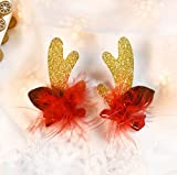 Christmas Decorations Hair Clip Hair Accessories Elk Antlers Hair Clips Party Accessory for Women Girl Cute Santa Hat Crocodile clip-Kids Holiday Gift 3#