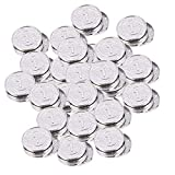 Toyvian 200Pcs Plastic Silver Coins Play Money Pack Fake Shiny Play Coin Tokens Party Props Supplies for Kids Toddlers Games Teachers Toy (Silver)