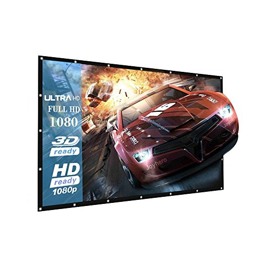 Projector Screen, 16:9 Portable Outdoor Projector Screen Suitable for HD TV Sports Movies Presentations (120 inch)
