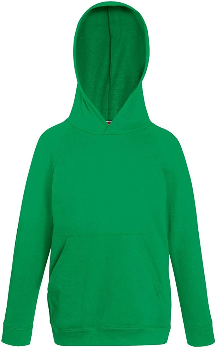 Fruit of the Loom Childrens Unisex Lightweight Hooded Sweatshirt//Hoodie