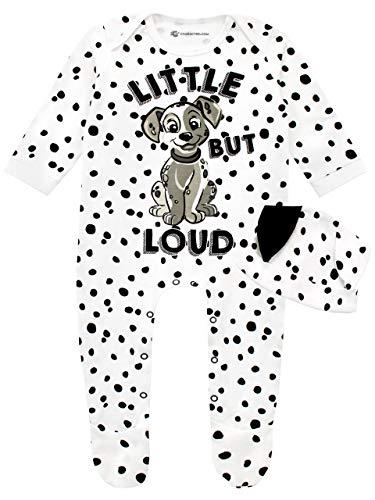 Disney 101 Dálmatas Pijama Entera con Gorro para Niñas Bebés 101 Dalmatians Blanco 9-12 Meses