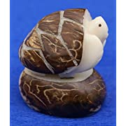 Brown Land Turtle Tagua Nut Figurine Gifts Statue Miniature Animals Decor for Sale, 2 Inches