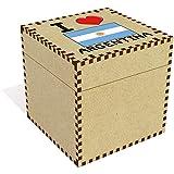 Stamp Press Grand 'I Love Argentina' boîte de Bijoux (JB000
