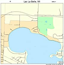 Large Street & Road Map of Lac La Belle, Wisconsin WI - Printed poster size wall atlas of your home town