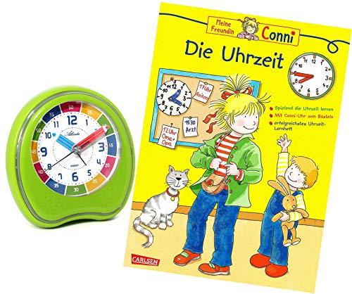 Kinderwecker Ohne Ticken Jungen Mädchen mit Lernbuch Conni Buch Uhrzeit Lernen - 1953-6 BU
