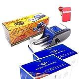 Maquina Electrica Entubadora De Cigarros Tubos Tabaco Liar Portatil Y Una Pitillera (58002 Azul) + 1000 Tubos Con Filtro American Aviator