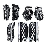 Franklin Sports NHL Kids Street Hockey Goalie Pads Set - Kids Hockey Training Equipment - Includes Block Pad, Catch Glove, and Goalie Pads