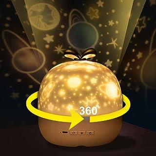 CoPedvic Proyector Estrellas, Lampara Proyector USB Luz Nocturna Infantil Recargable Lampara Proyector Techo para Bebés, Niños, Dormitorios