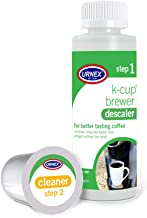 Urnex K-Cup Descaler and Cleaning Kit - Simple 2 Step - Professional K-Cup Coffee Maker Cleaning System Use with Keurig
