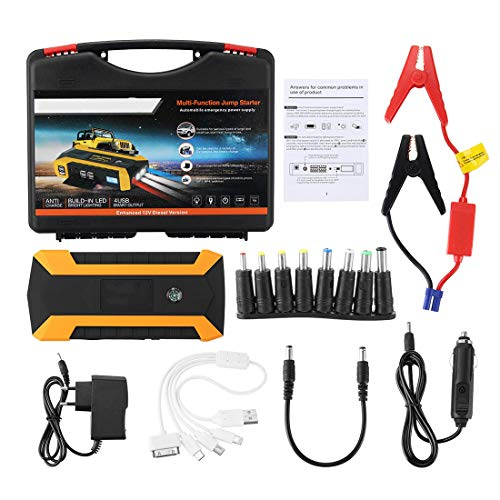 Big Save! WQYRLJ 89800Mah 12V 4USB Car Battery Charger Starting Car Jump Starter Booster Power Bank ...