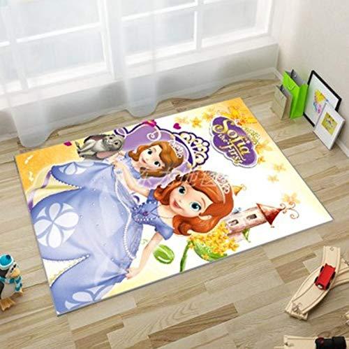 Alfombra Cute Girl Princess Mat Antideslizante Baby Game Mat Rectangular Short Velvet Cartoon Floor Mat Sala De Estar Área De Alfombra Mesita De Noche Sala De Estar Mesa De Centro Alfombra 100 * 160Cm